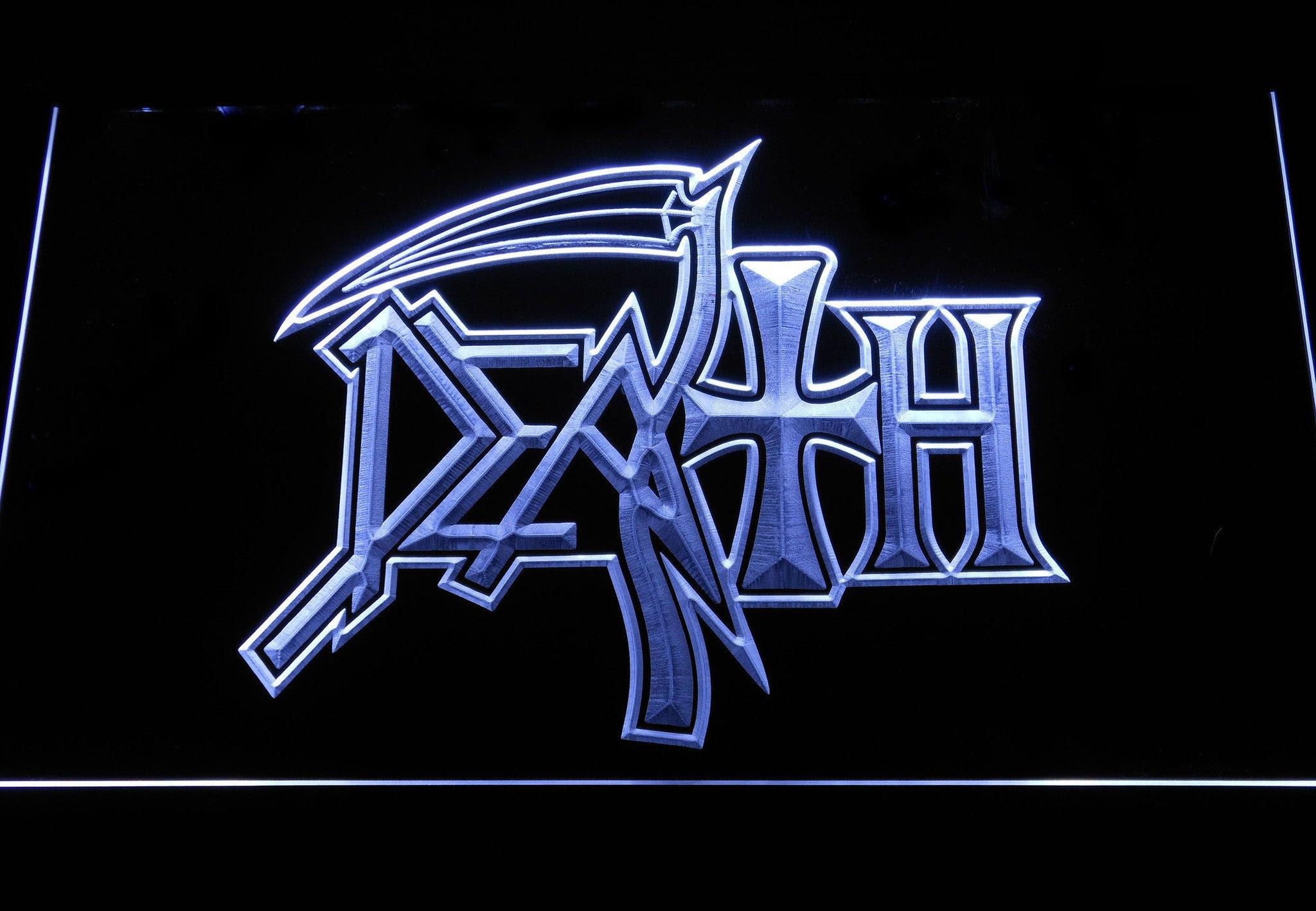 Death Logo LED Neon Sign   SafeSpecial