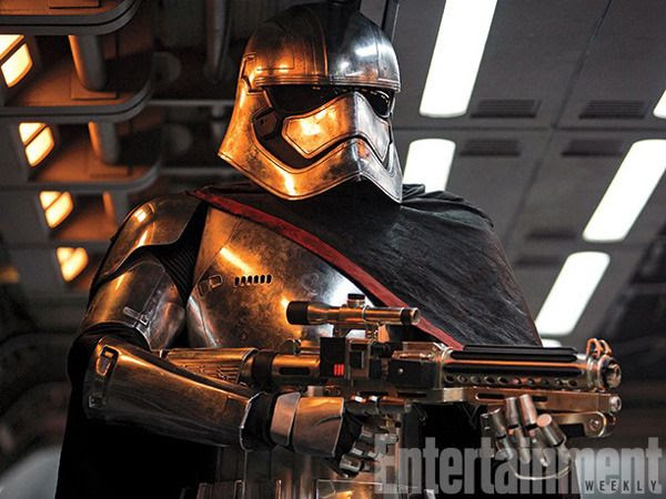 Captain Phasma (Gwendoline Christie) is ready to do the First Order's lethal bidding in this production still for STAR WARS: THE FORCE AWAKENS.