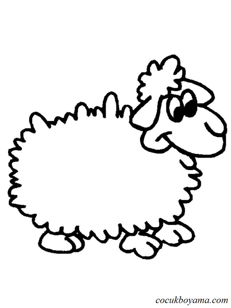 Koyun 13 ücretsiz Boyama Resimleri