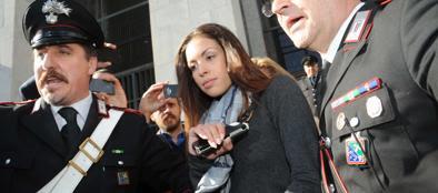 Karima El Mahroug, più nota come Ruby, in un'udienza del «Ruby bis» nel  maggio 2013 (Imagoeconomica)