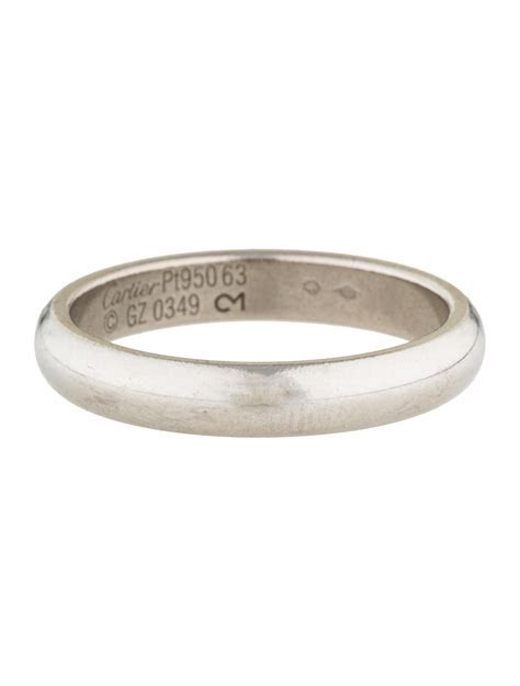 Cartier Platinum 4mm Classic Wedding Band   Rings