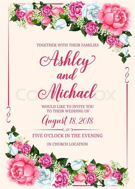 Rose flower frame of wedding     Stock vector   Colourbox