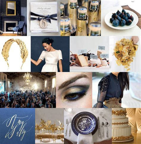 Annie is Getting Hitched!: Color Palette: Navy and Champagne