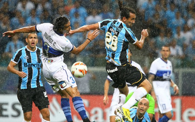 grêmio huachipato barcos (Foto: Lucas Uebel/Grêmio FBPA)