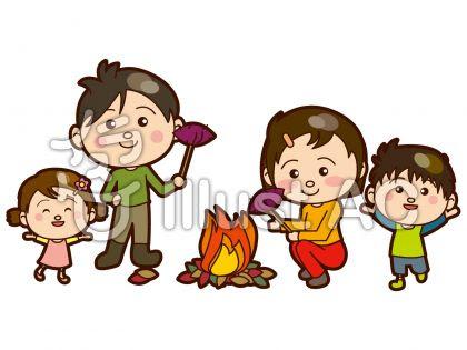 家族で焼きいもイラスト 無料イラスト素材 Mdesign211