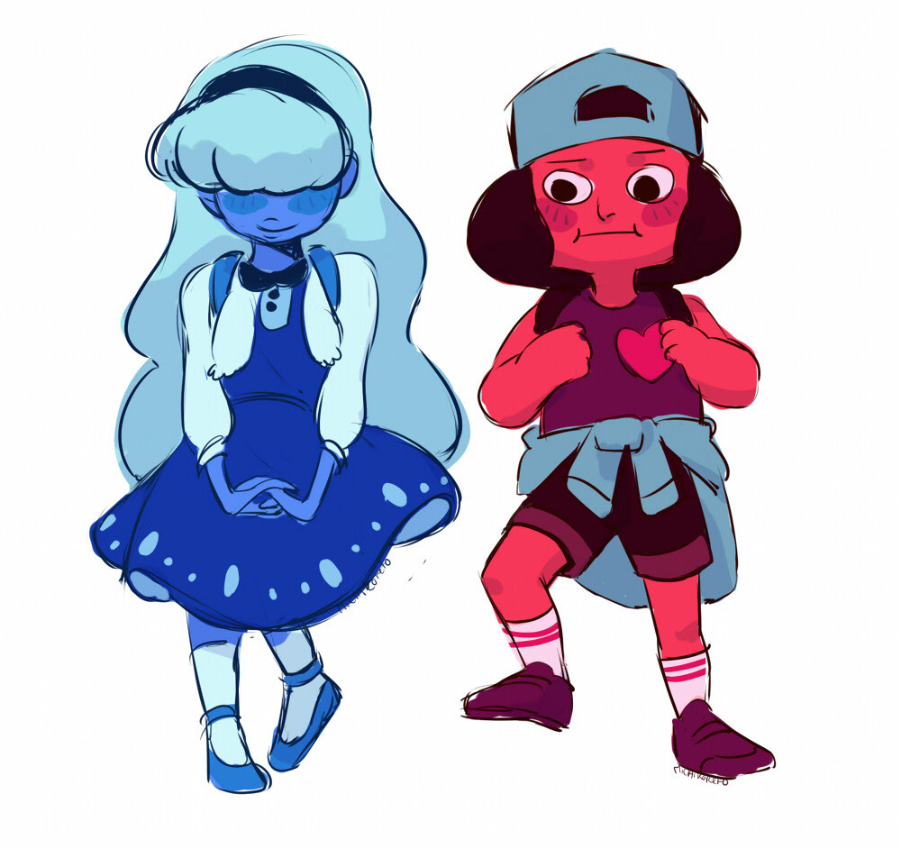 💕 Some back to school design for Sapphire and Ruby 💕