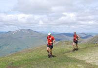 Spyke and Mark Hartell at second summit - A' Chralaig