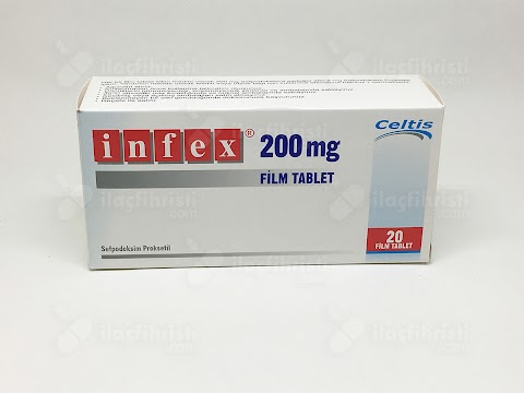 Infex 200 Mg 20 Film Tablet