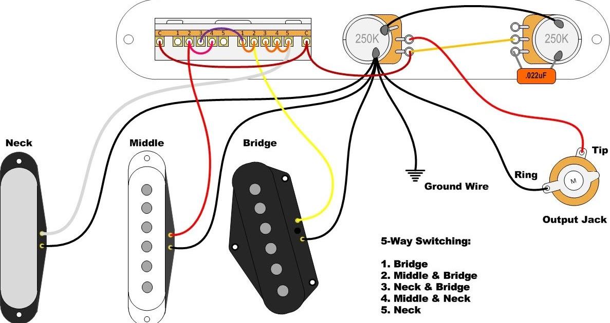 Standard Telecaster Wiring Diagram