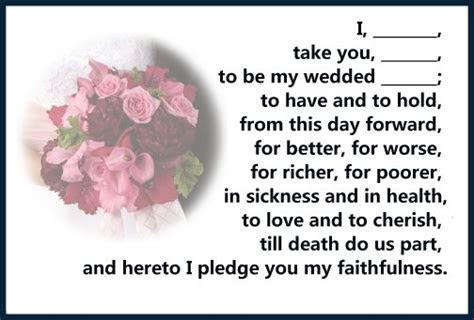 Marriage Vows   Christian Vows