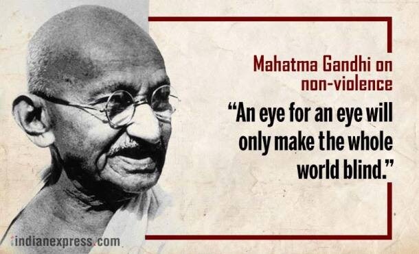 mahatma gandhi, gandhi jayanti, gandhi jayanti 2017, 2 october, october 2, quotes by gandhi, gandhi's birthday, gandhi on ahimsa, gandhi on caste, gandhi on nation, international non violence day, international peace day, indian express, indian express news
