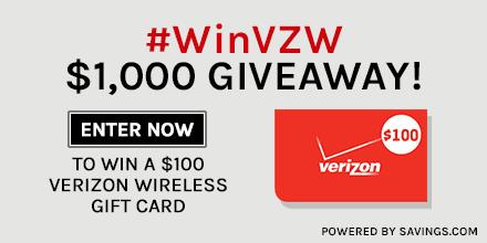 #WinVZW Verizon Wireless Giveaway