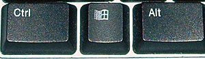 "A Control key (marked ""Ctrl"") on a m..."