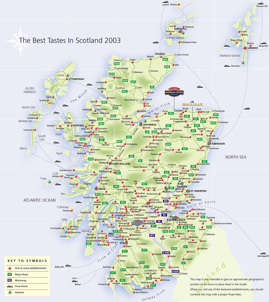 Mappa Scozia - Cartina della Scozia