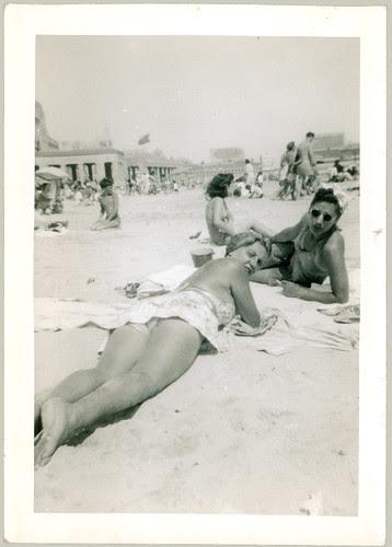 Girl at Atlantic City Beach