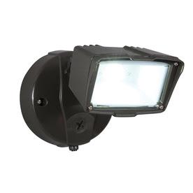 Shop Utilitech Pro 22-Watt Bronze Dusk-to-Dawn Security Light at ...