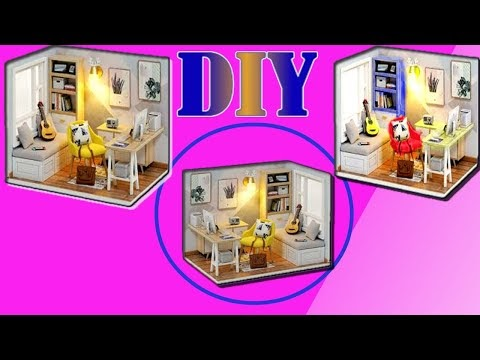 DIY Miniature Dollhouse bedroom~How to make Bedroom~Bed~Dresser~closest ...