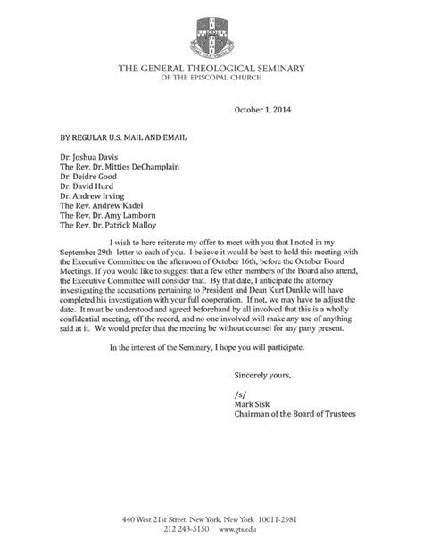 Board Meeting Invitation Letter
