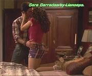 Sara Barradas sexy na novela Espirito Indomavel