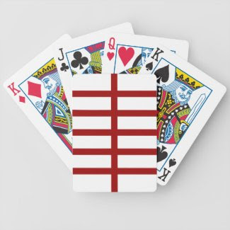 5 Bisected Red Lines Card Deck
