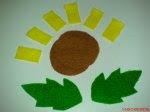 guntingan flanel sunflower