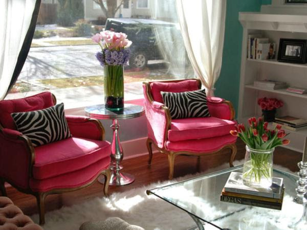 Hot pink Chairs - Eclectic - living room - Nest ...