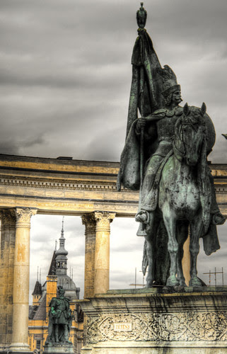 Heroes square. Budapest. Plaza de los héroes