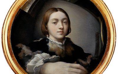 Autorretrato en espejo convexo. Por  Il Parmigianino
