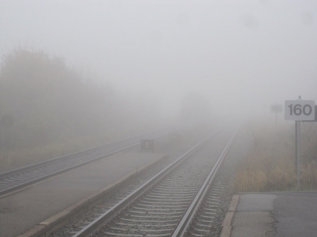 Train in fog