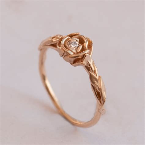 Give Rose Gold Ring to Your loved One   Unique Engagement Ring