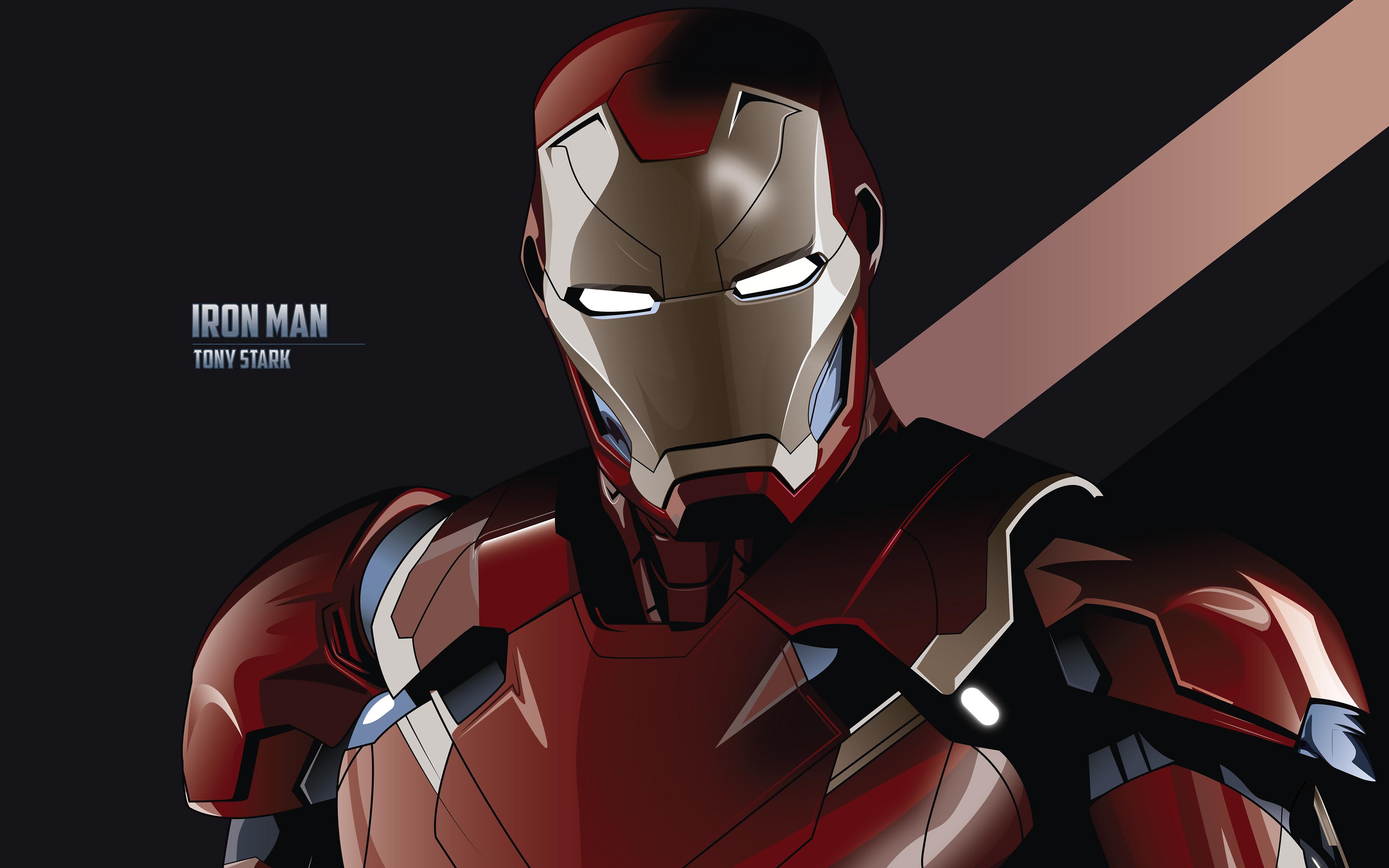 Tony Stark Iron Man Minimal 4k Wallpapers Wallpapers Hd