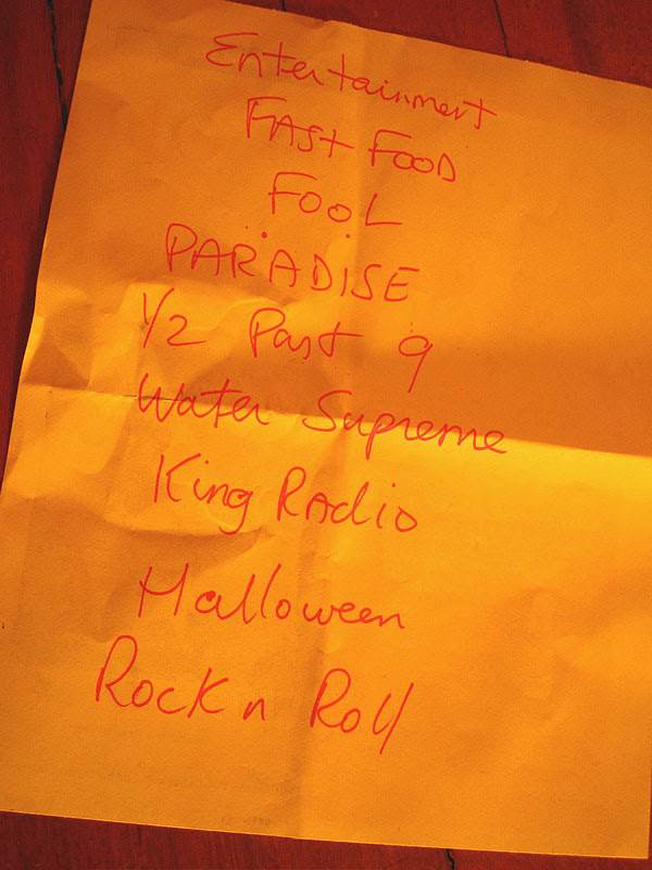 make a holy noise set list