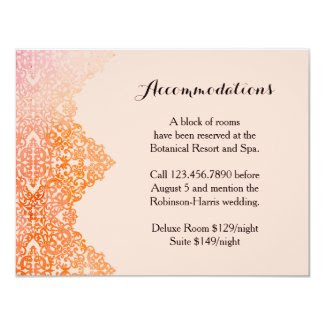 "Damask Border Wedding Invitation 4.25"" X 5.5"" Invitation Card"