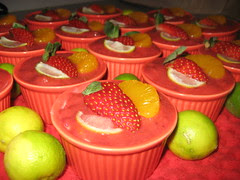 closeup of mini cheesecakes