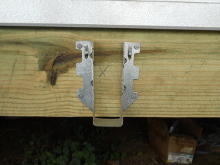 Porch Joist Hanger on Ledger