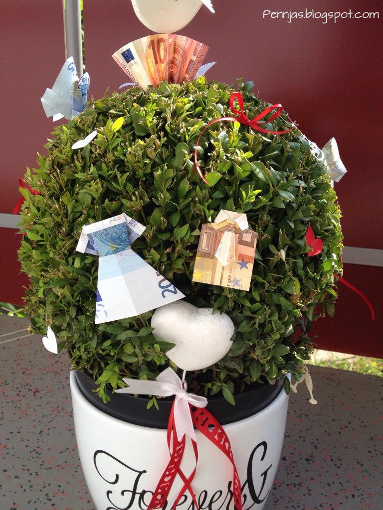 Pennjas ein geldbaum - Geschenk dekorieren ...