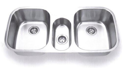 Stainless Steel Triple Bowl Kitchen Sink | Minimalist Home 2016/2017