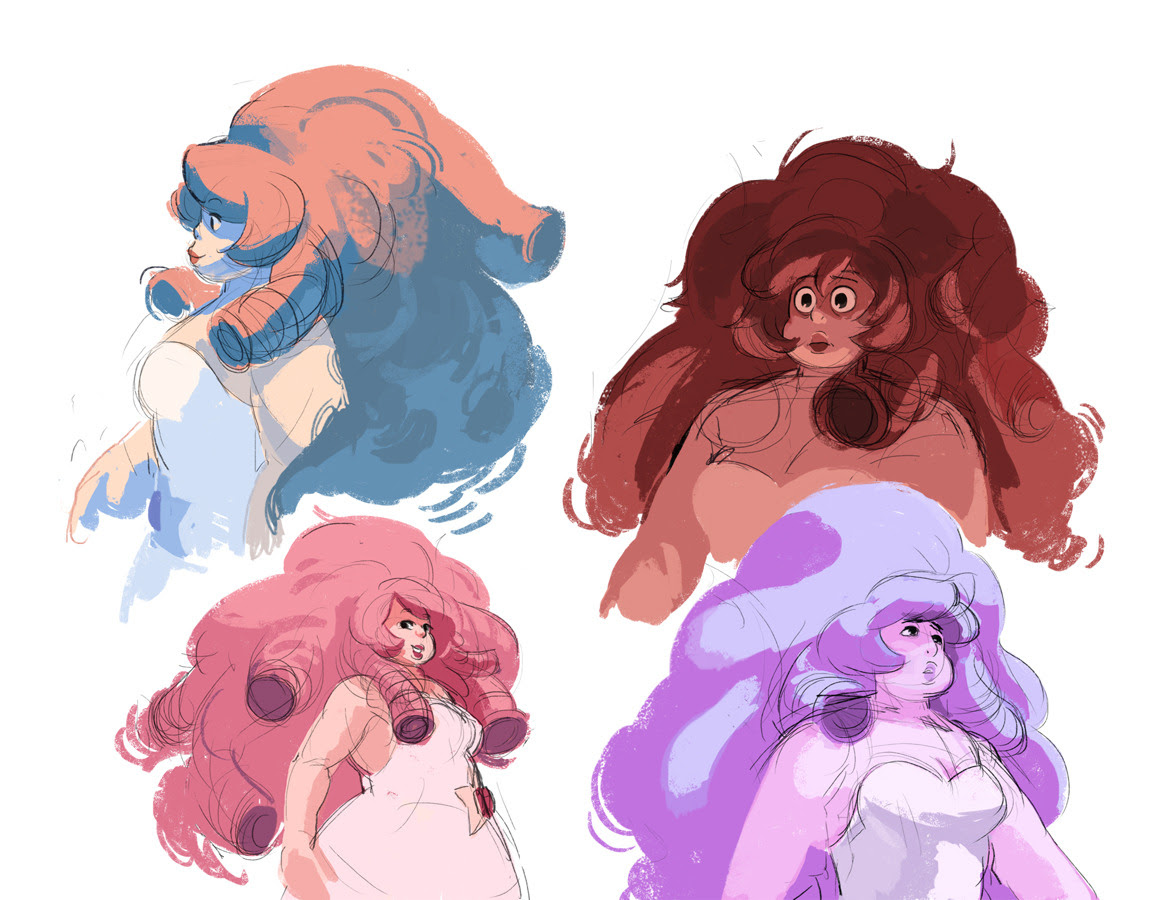 Various steven universe sketches, plus fusion conspiracy theories