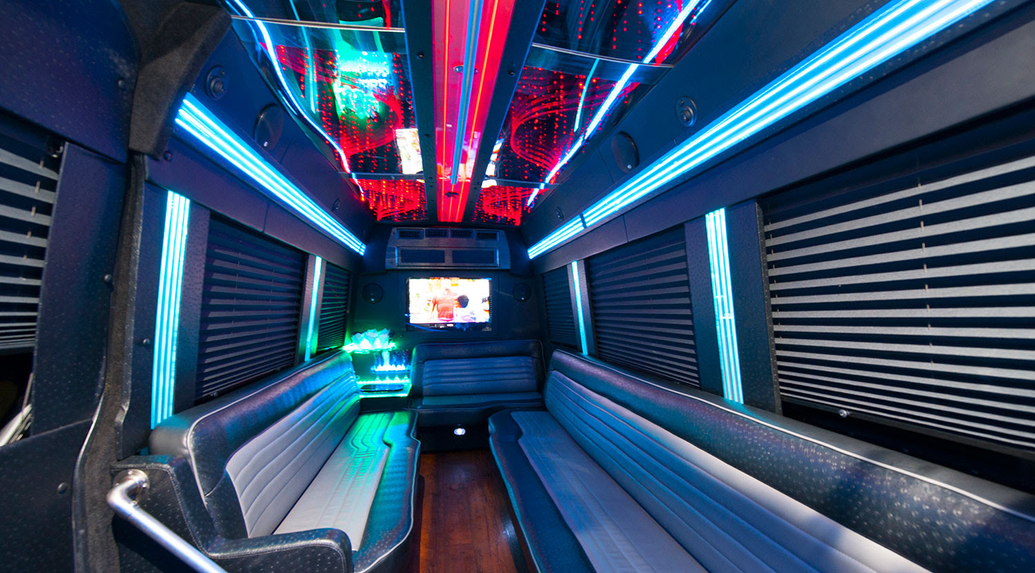 Mercedes Benz Sprinter Limo Party Bus Rental - Atlantic Limo