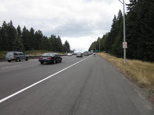 Riding on I-5 near Olympia