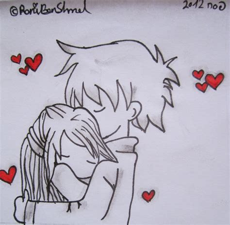 draw anime couples hugging