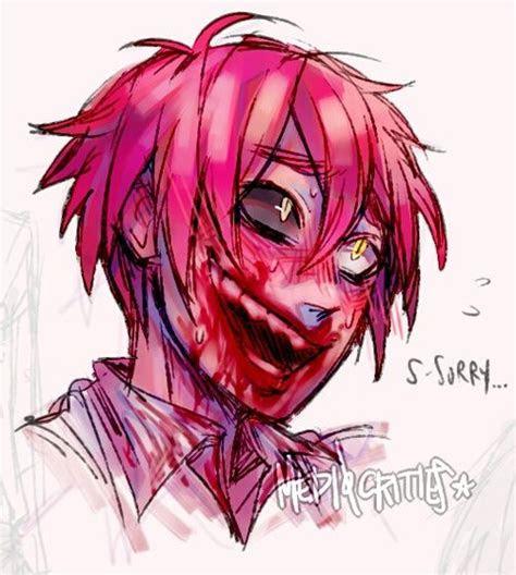 bloody insanity pink anime boy guro creepypasta anime