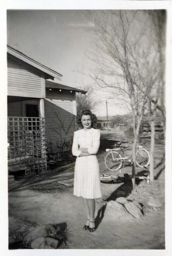 Gloria in white dress
