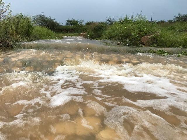 Chuva de 120.6 mm banha cidade de Cajazeiras na madrugada deste sábado