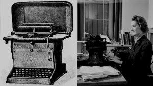LEYENDA ÚNICALa primera máquina de escribir comercial fue fabricada por E Remington and Sons.