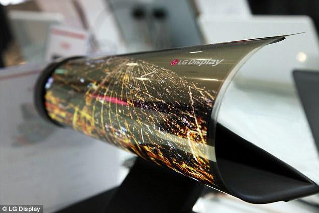 18-inch layar rollable, yang diyakini menjadi yang pertama di dunia, diumumkan oleh raksasa Korea menjelang teknologi CES acara taking tempat di Las Vegas pekan ini