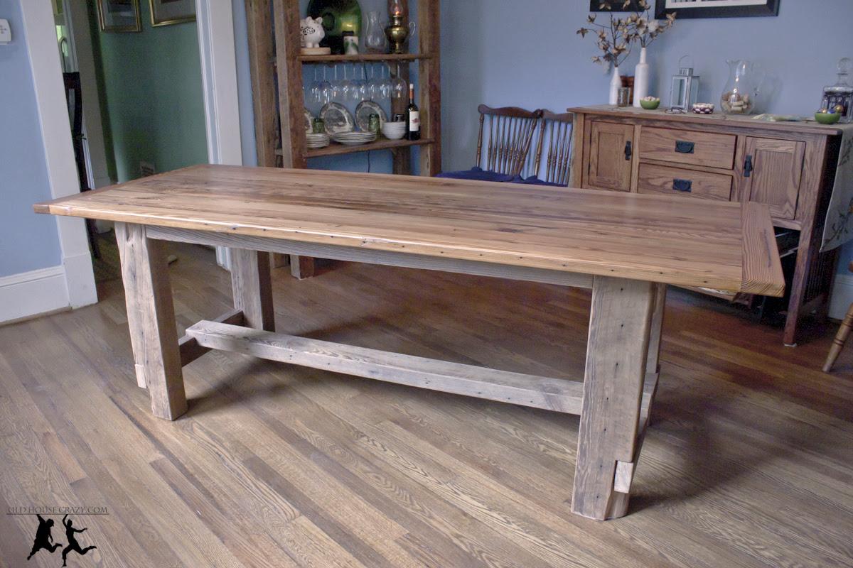 Reclaimed Heart Pine Farmhouse Table – DIY – Part 5 – Final ...