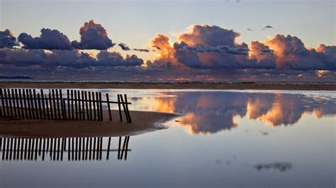 hd wallpaper lake beach cloud sky