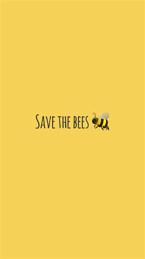 yellow save  bees wallpaper yellow   cute