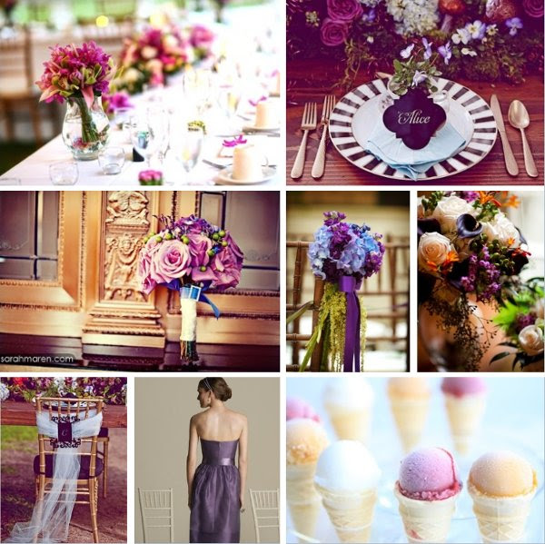 <b>Flowers:</b> Myrick Studios <br> <b>Ice Cream:</b> Marcia Selden Catering and Event Planning <br>  <b>Centerpieces:</b> Hawaii Weddings and Events <br> <b>Bouquet:</b> Kate Miller Events <br> <b>Bridesmaid Dress:</b> The Dessy Group <br> <b>Aisle Marker:</b> Off Without A Hitch Productions LLC.  <br> <b>Chair and Place-Setting:</b> Kate Miller Events
